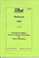 Wadhurst 1940 A-Z