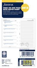 Agenda 2018 semana personal tamaño diario-en una sola página con notas Forrado 18-68409