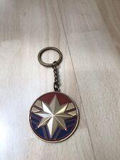 Captain Marvel Keychain Movie Promo Cinema Steel Popcorn Brie Larson Avengers
