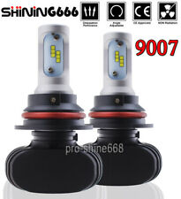 9007 HB5 Led Headlight Bulb Lamp Light kit Dual Hi/low beam 6000K Xenon White PD