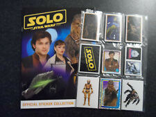 TOPPS STAR WARS SOLO COMPLETE 198 STICKER SET+ ALBUM