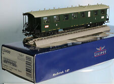 Liliput 334560-Piste h0-Badischer Eilzug. W. 1./2. classe, 4 achs., vert, PE. 1