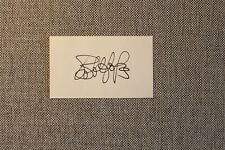 Bob Hope Autograph 3x5 Card
