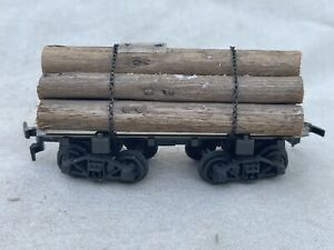 Rivarossi Flat Car with Wood Logs R2349 HO Scale Vintage!