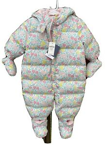NWT Baby GAP Infant Girls Warm Down Puffer Snowsuit 3-6 Mos 7-17 Lbs $88 Retail