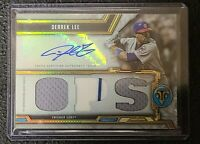 2020 Topps Triple Threads Autograph Relics Derrek Lee #7/18