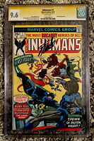 INHUMANS #1  CGC 9.6 SS SIGNED BY STAN LEE Marvel (1975) White Pages