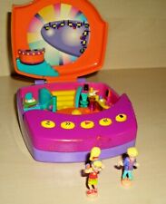 "Polly Pocket  "" Spieldose "" Musikbox / Discothek + 2 Figuren ""  Bluebird  » PP27"