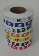 Premium $ .50 denomination Roll Tickets - One Roll of 1,000 Tickets -