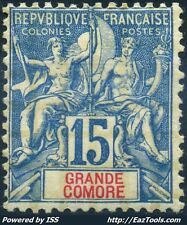 GRANDE COMORE TYPE GROUPE N° 6 NEUF * AVEC CHARNIERE