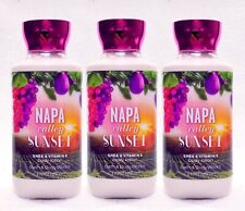3 Bath & Body Works NAPA VALLEY SUNSET Body Lotion Cream Nourish Moisture
