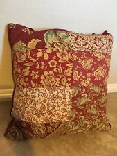 Linden Street Red Bohemian Floral Queen Quilted Cotton Decorative Throw Pillow