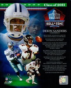 Deion Sanders Falcons Cowboys HOF NFL Licensed Unsigned Glossy 8x10 Photo A