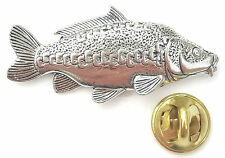 Mirror Carp Fish Handcrafted from English Pewter in the UK Lapel Pin Badge
