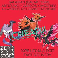 Galar Articuno + Zapdos + Moltres (6IVs, 100% Legal)   Pokemon Sword & Shield