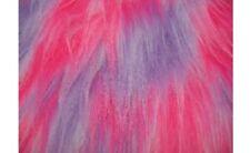 Multi colour Luxury Long Pile Hair Faux Fur Fabric - Various sizes & Colours