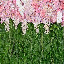 Floral Green Plant Backdrop Vinyl Photo 10x10ft Seamless Studio Prop Background