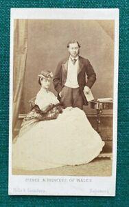Antique Victorian CDV Photo Princess of Wales Queen Alexandra King Edward VII