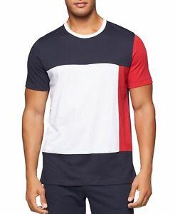 Tommy Hilfiger Modern Essentials Colorblocked Cotton T-Shirt - Red/White/Blue