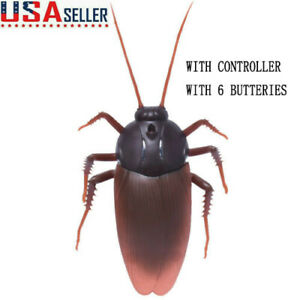 Remote Control Cockroach Toy Mock Fake Prank Insects Joke Scary Trick Bugs Prank
