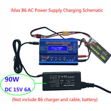 iMax B6 Balance Charger 90W DC 15V 6A AC100~240V Power Supply Adapter US/EU Plug