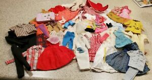 Vintage Barbie clothing lot 50 pc clones, Ken, Skipper, PJ, about 25% repair Mod