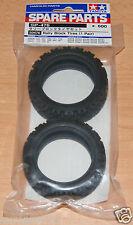 Tamiya 50476 Rally Block Tires/Tyres (1 Pair) (TA01/TA02/TT01/TT02/TL01/XV-01)