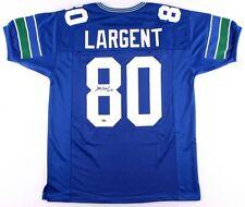 de3d3e6b9 Steve Largent Signed Seattle Seahawks Jersey Inscribed