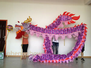 7m Purple dragon Dance Costume Chinese Culture Party Festival Stage Theater Prop