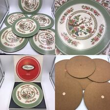 Vintage Pimpernel Set Of 6 Indian Tree Cork Backed Placemats Boxed Round
