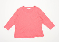 John Lewis Womens Size 12 Floral Cotton Pink Lounge Top (Regular)