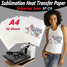 A4,50 sheet,Heat Transfer Sublimation Inkjet Printer Paper 4 Light Color T-Shirt