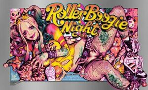 FOIL Rockin Jelly Bean ROLLER BOOGIE NIGHT Poster Print LE of 175 BNG SOLD OUT