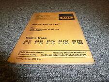 Hatz ES780 E780 ES785 E785 Diesel Air Cooled Engine Parts Catalog Manual Book
