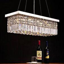 80CM Rectangle K9 Crystal Chandelier Dinning Room Bar Ceiling Light Pendant Lamp