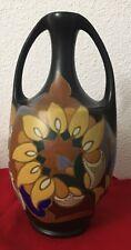 Rare Vase Gouda Eskaf Art Deco Hauteur 31 Cm
