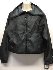 New Women's Champion C9 Black Long Sleeve Zip Up Bomber Jacket Size XS