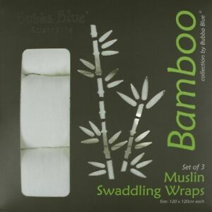 Bubba Blue Bamboo Muslin Wrap 3 Pack