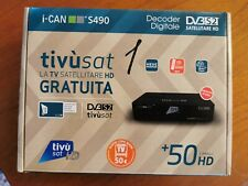 Tivusat iCAN S490 Satellite HD Decoder WITH ACTIVATED Card FOR Italian HD TV