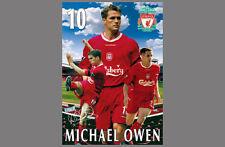 Vintage Original Michael Owen Liverpool Fc Football Club Soccer Poster (2003)