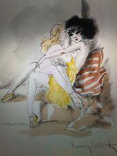 Colored Signed Louis Icart illustrations from {Publication Chansoms De Bilitis}