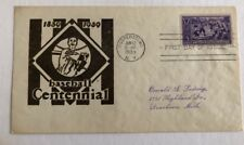 1939 Baseball 100th Anniv Ludwig 855 First Day Cover