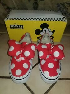 Vans Disney Minnie Mouse Bow Sneakers Shoes Womens