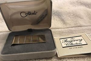 14K and Sterling Silver Colibri Money Clip Regency Orig Case & Paperwork