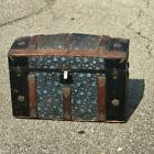 Antique Victorian Steamer Hump Back Trunk Chest Camel Back w/ Tray