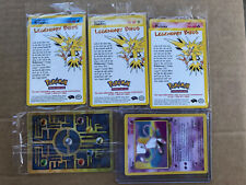 Pokemon Cards - Ancient Mew, Mew, and Legendary Birds Moltres, Articuno, Zapdos