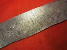 ALABAMA DAMASCUS STEEL BILLET BLANK,BLADE, KNIFE MAKING SUPPLIES - .095