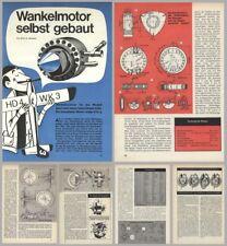 Bauplan funktionsfähiger Kreiskolben- Wankelmotor - Original von 1967
