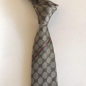 Gucci New $220 Skinny GG Web Silk Tie Necktie
