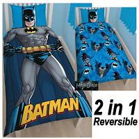 BATMAN 'SHADOW' SINGLE DUVET COVER SET DC COMICS REVERSIBLE
